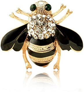 Fashion Exquisite Enamel Crystal Rhinestones Insect Themed Bee Brooch Pin In a Gift Box for Women's Clothing Scarf Decor