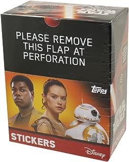 Star Wars 2016 Topps The Force Awakens Album Sticker Box. 50 Packs per Box. 5 Sticker per Pack. 250 Total Stickers!!
