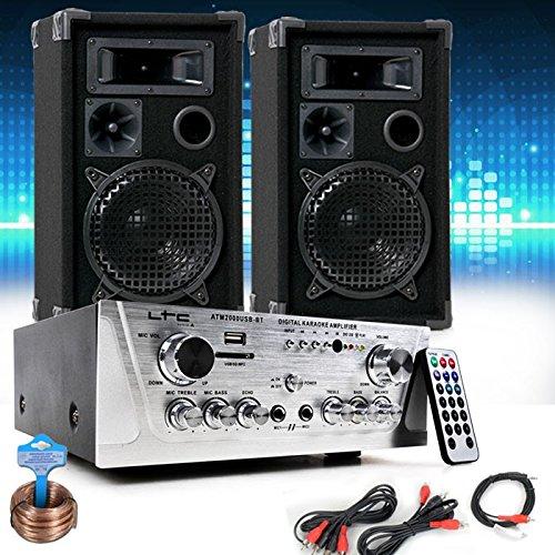 etc-shop Sistema Musicale Partito PA Speaker USB SD MP3 Cavo Amplificatore Audio DJ-694
