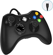 $21 » Xbox 360 Wired Game Controller, USB Wired Gamepad Controller for Microsoft Xbox 360, PC Windows 7,8,10 with Dual-Vibration Turbo, Trigger Buttons - Black