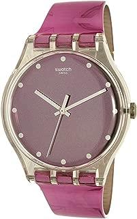 Swatch Women's New Gent SUOK125 Pink Plastic Swiss Quartz Watch