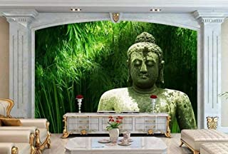Wallpaper 3D Bamboo Stone Buddha Statue Modern Living Room Bedroom Large Mural Wall Decoration