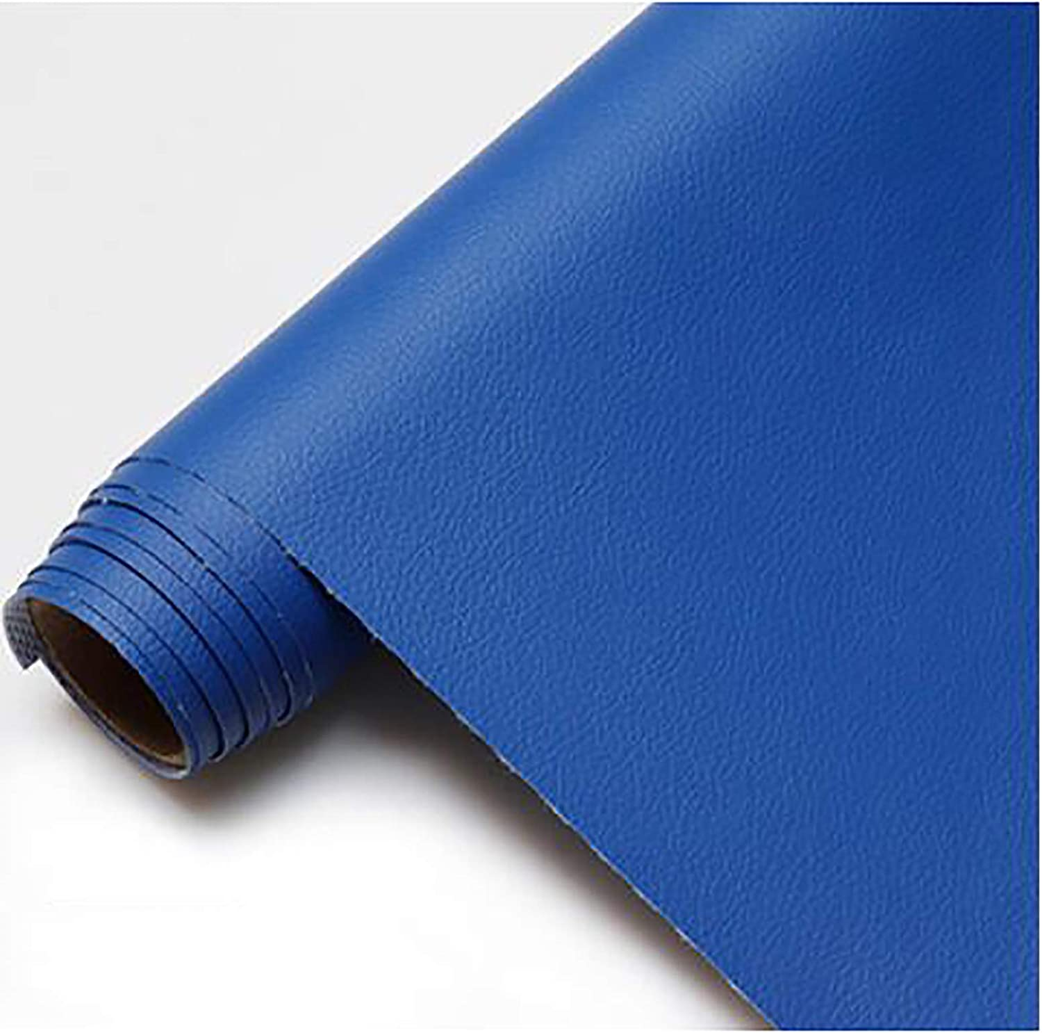 GERYUXA Faux Leather Faux Leather Sheets for Leather Bows and Earrings MakingFor Upholstery Faux Leather Car Material-Dark Blue t9 1.6x9m