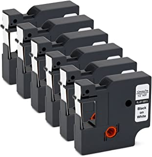 OfficeWorld 6-Pack Compatible Dymo D1 Label Tape 45013 S0720530 Black on White 1/2 Inch x 23 Feet for DYMO LabelManager 160 280 210D 360D 420P Wireless PnP 220P 260P 450D 500TS 450DUO Label Maker