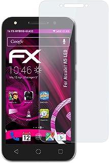 atFoliX Plastglasskyddsfilm är kompatibel med Alcatel A5 LED Glasskydd, 9H hybridglas FX Skyddsglas av plast