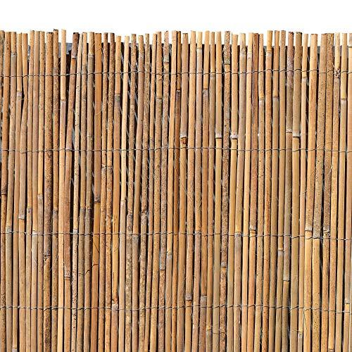 ESTEXO Bambusmatte - Sichtschutzzaun, Gartenzaun, Natur, Bambus, Zaun, Sichtschutz, Windschutz (1,50m x 4,00m)