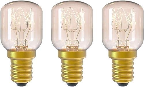 DGE 3Pack E14 15W Ampoule Incandescence 2300K Ampoule Four Dimmable Culot E14 Résistant Jusqu'à 300° C Lumiere pour A...