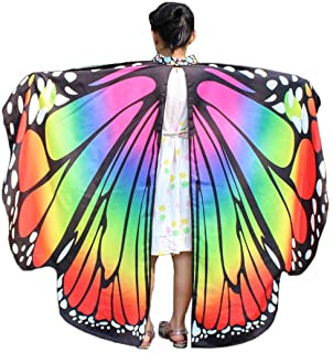 Alaroo Womens Halloween Costume Fairy Butterfly Wings Cape with Mask Accessory