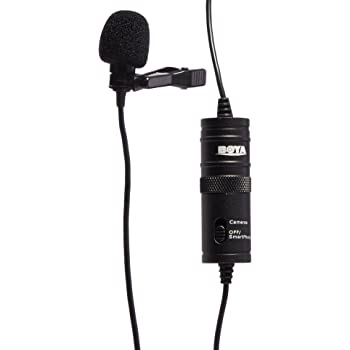 """BOYA BY-M1 3.5mm Electret Condenser Microphone with 1/4"""" adapter for Smartphones iPhone DSLR Cameras PC"""