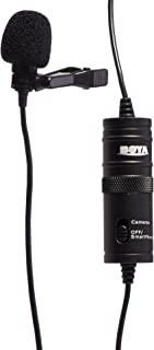 "BOYA BY-M1 3.5mm Electret Condenser Microphone with 1/4"" adapter for Smartphones iPhone DSLR Cameras PC"