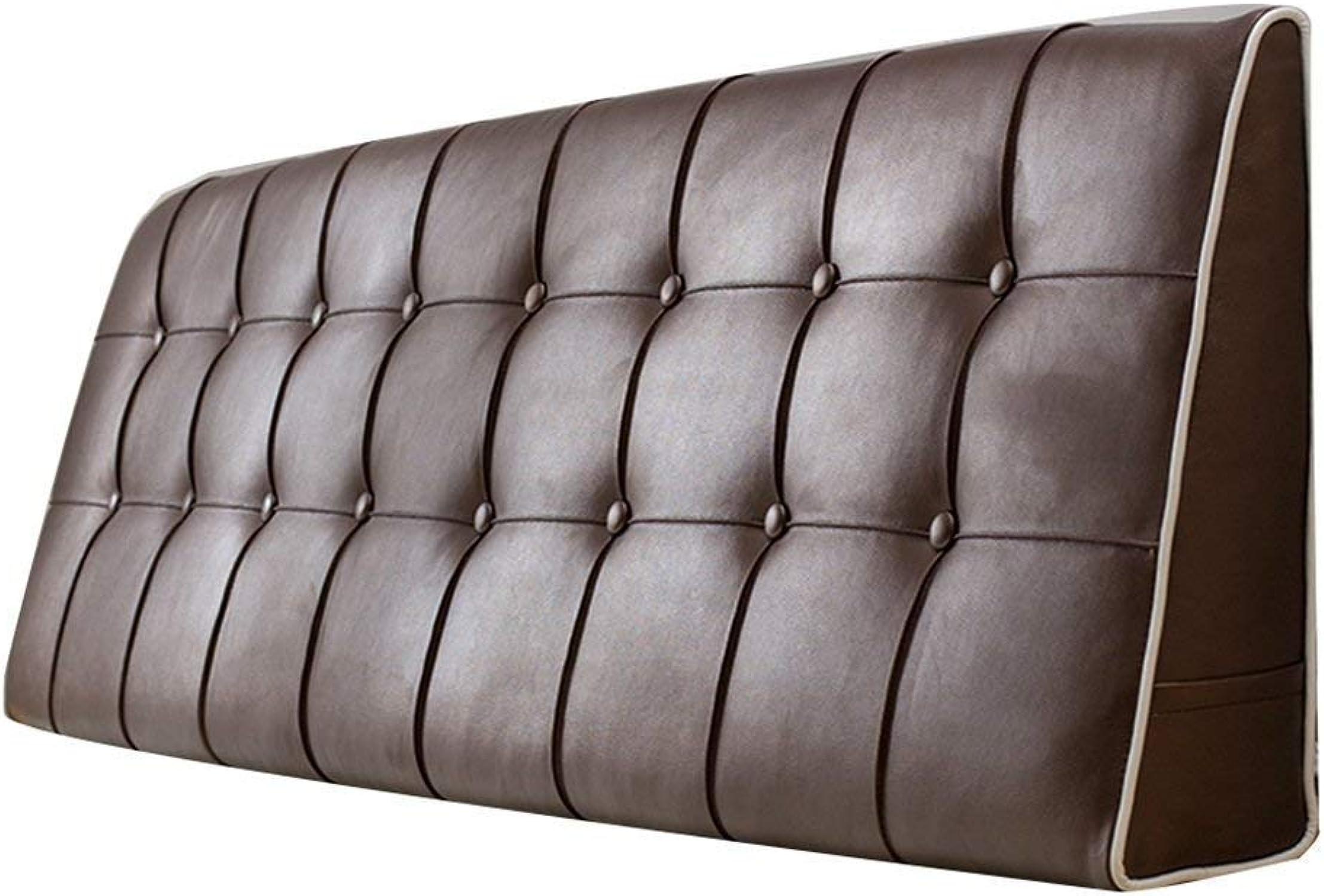LXRZLS Coussin de Chevet Coussin de lit Double Coussin de lit Double Coussin de tête de lit avec Dossier Amovible et revêteHommest Amovible 7 Couleurs, 7 Tailles. (Couleur   marron, Taille   90x15x50cm)