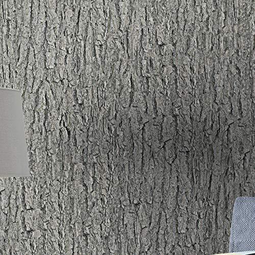 YXS Waterdicht Zelfklevend Behang, Retro 3D Stereo Kunstmatige Schors Behang, Woonkamer Studie Hallway Thema Restaurant Natuurlijke Boom Behang, Smaakloos, Gezond.
