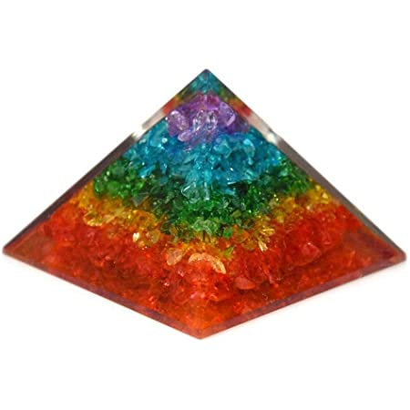 3 x 3 Base and 2 Height Double Strength EMF Protection Handmade Orgonite Healing Chakra Crystals LUXAR Orgone Energy Generator Pyramid Flower of Life Reiki Meditation Merkaba SBB Coil