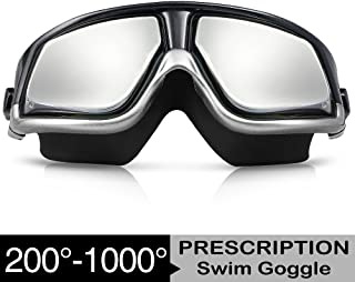 6837a2b3b94 ... Myopia Swim Glasses Anti Fog UV Men Women Diopter Swim Eyewear Zionor RX  Prescription Swim Goggles