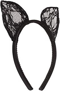 Wowlife Bunny Rabbit Ears Sexy Rabbit Ears Lace Mask Veil Headband Supply for Nightclubs & Masquerade & Halloween & Christmas (Style 02)