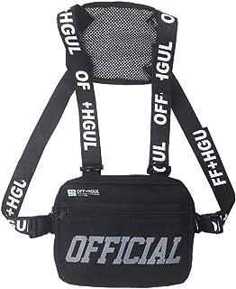 Qualilty Men Women Chest Rig Bag Hip-Hop Style Pack Functional Chest Bag Cross Shoulder Bag Adjustable Tactical Vest Streetwear Bags Waist Pack, Sports Fashion Trend Backpack