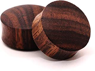 """Mystic Metals Body Jewelry Pair of Sono Wood Plugs - 1 1/2"""" - 38mm - Sold As a Pair"""