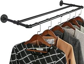 Waschk/üche Schrankgarderobe kleiderst/änder f/ür Schlafzimmer OROPY Kleiderstange Massive Buche Holz bis 50 kg belastbar 110 cm Garderobenstange und Metallrohr Natur Wandmontage
