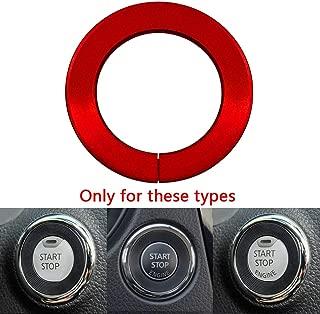 Ceyes Red Engine Start Stop Button Ring Push Button Ignition Switch Ring Trim Sticker for Nissan X-Trail T32 Rogue Qashqai Juke 15 Murano Teana Infiniti Q50 Q50L Q60 QX60 2014-2017