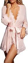 KASAAS Sexy Lingerie for Women Babydoll Sleepwear Underwear Lace G-String Set Solid Perspective Bathrobe Nightwear