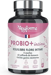 Probio+ Intima - Flore Intime - Jusqu'à 40 Milliards UFC/Jour - 4 Souches Lactobacillus Reuteri, Rhamnosus Crispatus et Ac...
