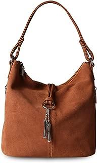 Women Purse Suede Split Real Leather Shoulder Bag Casual Crossbody Hobo handbag