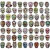 Sugar Skull ステッカーパック ノートパソコンスカルデカール Dia De Los Muertos メキシカン死者の日ステッカー ウォーターボトル ラゲッジ バイク コンピュータ スケートボードビニールデカールパック 60スタイル(180ピース)