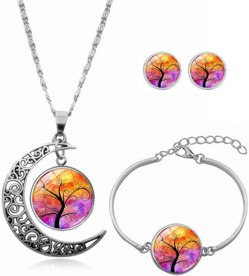 Fashion Metal excellence Necklace Earring List price Bracelet Women Jewelry Set Glass
