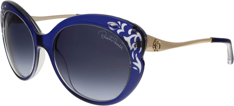 Roberto Cavalli Women's RC900S Sunglasses 55 BLUE Topics on Austin Mall TV