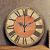 FUTIIF Reloj De Pared De Estilo Europeo Sala De Estar Creativa Reloj De Pared Redondo Moderno Reloj Silencioso Simple Dormitorio Reloj De Pared Retro 12 Pulgadas C
