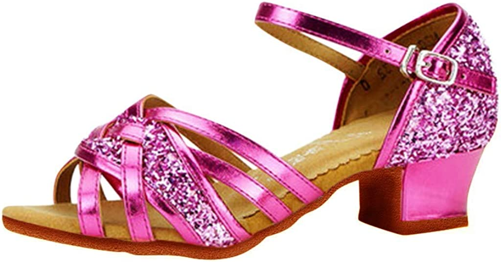 Ballroom Dancing Shoes for Girls with Washington Mall Color Open Heels San Francisco Mall Solid Toe