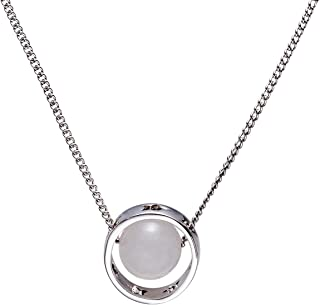 White Gold Plated 8 Planets Solar System Pendant Necklace