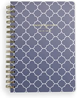 $29 » momAgenda Desktop Spiral Day Planner (July 2019 - December 2020) Organize Your Busy Life with The Convenient Week-at-A-View Layout. Quotes Included Each Week for Motivation (Navy Clover)
