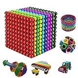 InfantLY Updated M-agnetic Balls 1000 PCS 3 MM Rainbow Creative M-agnet Toys Set Rare Earth Powerful Beads Desktop...