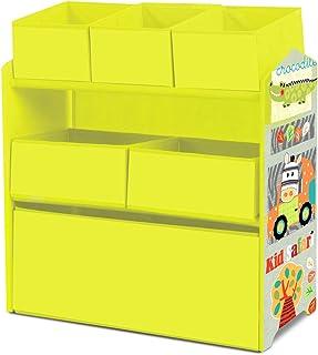 Lalaloom SWEET LUGGI - Estanteria infantil de madera (habitación para niños mueble multifuncional almacenaje con 6 cajas...