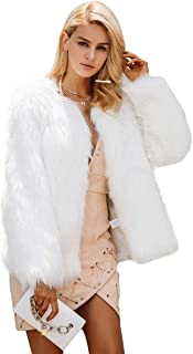 Simsly Autumn Fur Vest Sleeveless Lightweight Faux Fur Vests Winter Warmer Jacket Coat for Women and Girls(White)