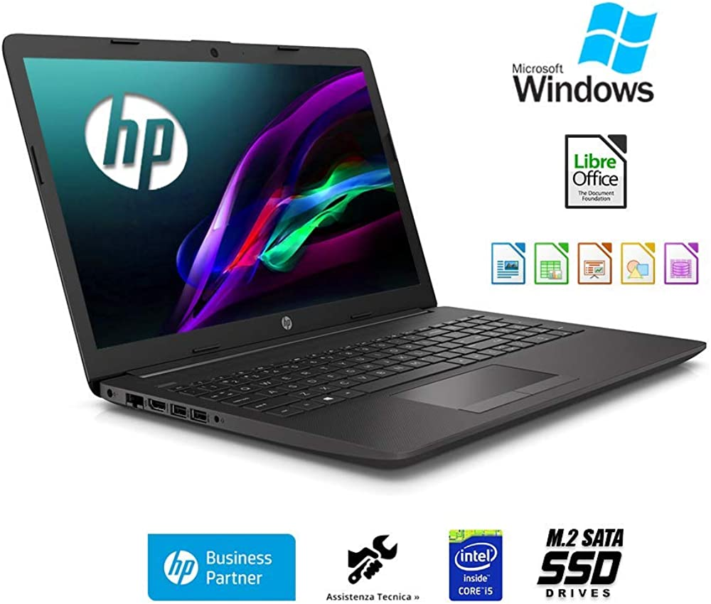 Hp 250 g7 notebook intel core i5 ram 8gb ddr4,ssd m.2 500gb ,dispaly 15.6