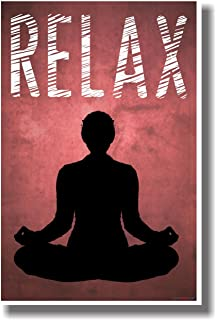 Relax (Red) - NEW Stress Reduction Meditation Motivational Poster