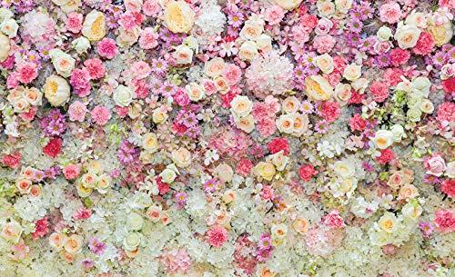 ForWall Fototapete Vlies Tapete Schöne Blumen Rosa Pastellfarben Vliestapete Design Tapete Moderne Wanddeko 3102VEXXXL 416 cm x 254 cm Photo Wallpaper Mural TAPETENKLEISTER INKLUSIVE
