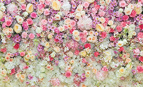 Schöne Blumen Pastellfarben - Forwall - Fototapete - Tapete - Fotomural - Mural Wandbild - (3102WM) - XXL - 368cm x 254cm - Papier (KEIN VLIES) - 4 Pieces