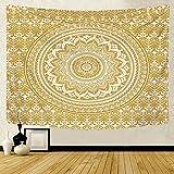 Patrón de mandala caliente tapiz indio colgante de pared cenefa bohemia elefante playa fondo tapiz de tela manta A5 180X200CM