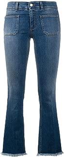 Stella McCartney Kick Flare Frayed Pocket Jeans Dark