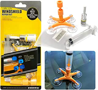 YOOHE Car Windshield Repair Kit - Windshield Repair Kit with Pressure Syringes for Fix Windshield Chips, Cracks, Bulls-Eye, Star-Shaped and Half-Moon Cracks