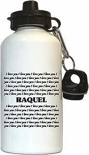 I Love You Raquel Water Bottle White