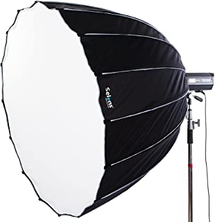 Selens 36 inches / 90 Centimeters Parabolic Softbox with Bowens Mount, Hexadecagon Deep Parabola Quick Folding Softbox for Photo Studio Lighting Flash Light
