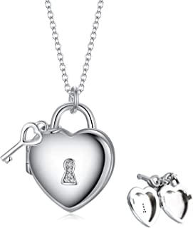 Personalized 925 Sterling Silver Girls Large Round Locket with 1pt Diamond Molly B London
