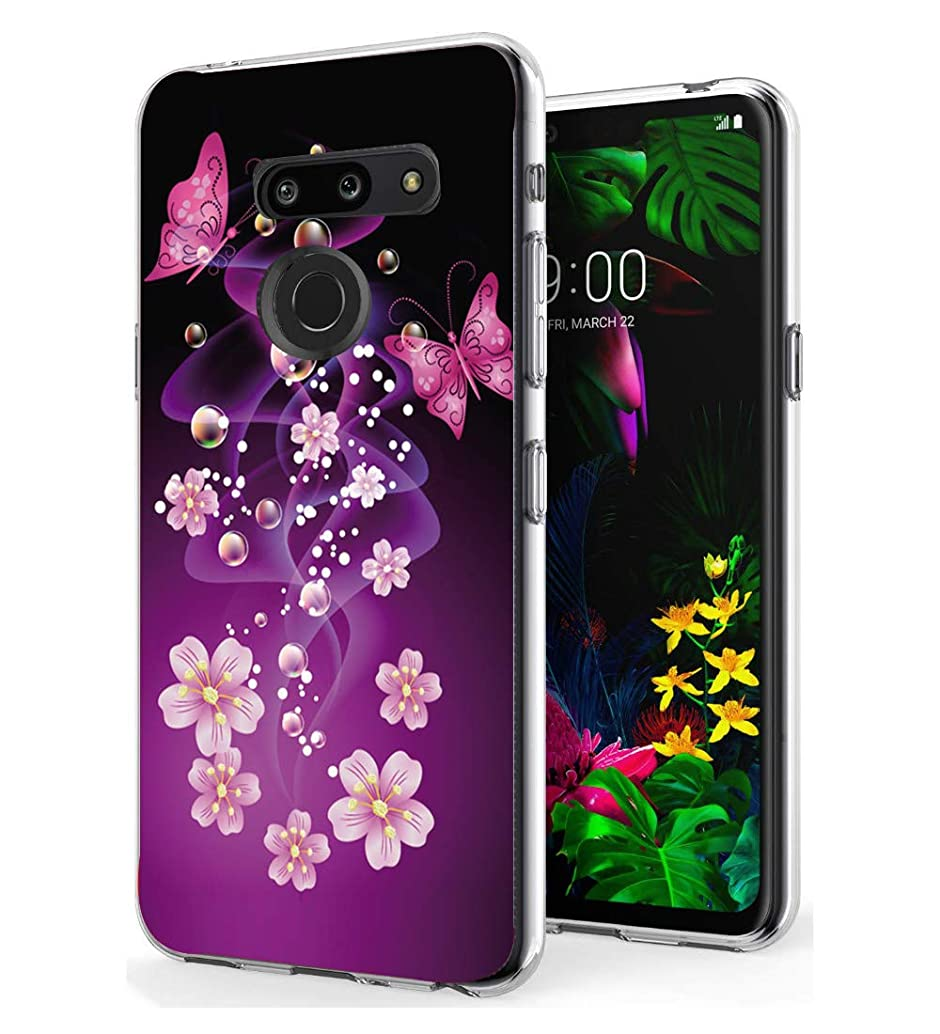 LG G8 ThinQ case, LG G8 Case, Starhemei Slim TPU Soft Shell Ultra Thin Flexibility Bumper Rubber Case Cover for LG G8 ThinQ (Butterfly)