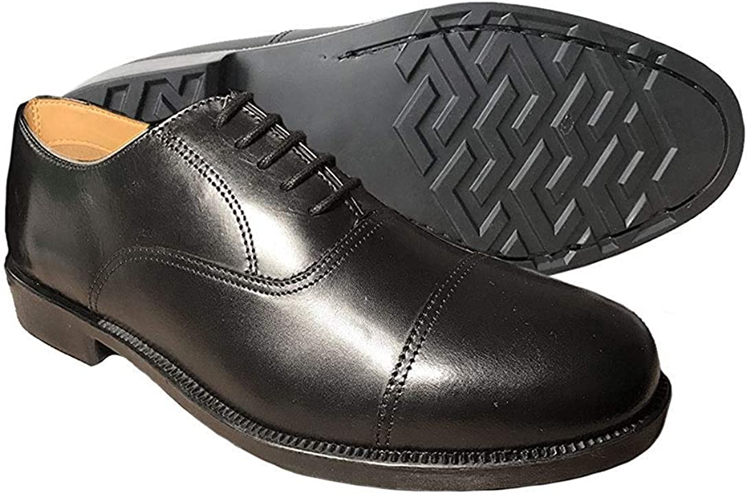 Grafters Mens Leather Capped Oxford