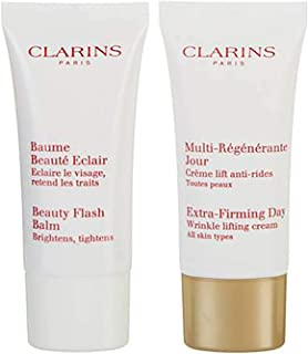 Clarins Womens 2 Pack Extra-Firming Anti Aging Skin Care Set Ages 40 Plus
