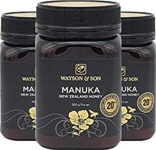 Manuka-Honey MGS 20+ (MGO 800+) 500g from New-Zealand (3 Bottle)